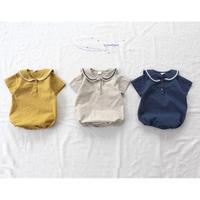 3colorセーラー半袖ロンパース(691)