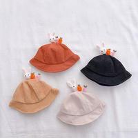 うさぎにんじん付きコーデュロイ帽子(905)