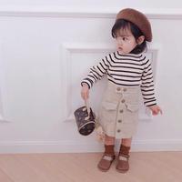 kids コーデュロイ台形スカート(540)