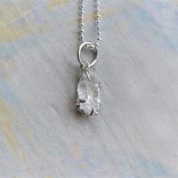 Only One!銀の滴ふるふるハーキマーダイヤモンドユニセックスネックレス-9-