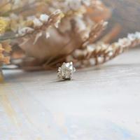 Only One!銀の滴ふるふるハーキマーダイヤモンド一粒ピアス-8-/SV925