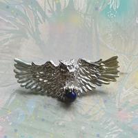 銀の滴ふるふる-アイヌの神謡-梟の神様ブローチ