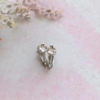 銀の滴ふるふる-水桜- イヤリング/SV925ホワイト