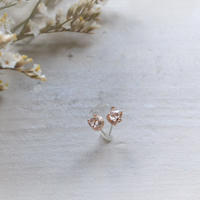 Semi Only One!Herkimer Diamond K10PG Pierced-67-