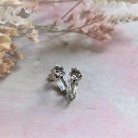 銀の滴ふるふる-水桜- イヤリング/SV925 アンティーク