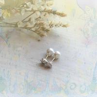 銀の滴ふるふるピアス -22-/SV925/2WAYパールキャッチ付