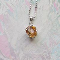 Gemstone Citrine Necklace -8-  /'21 soranotane