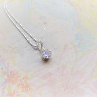 Milk Crown Necklace -Royal Blue Moonstone/cut -
