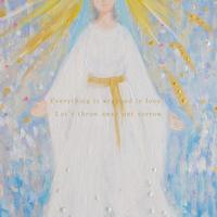 チャリティポストカード /両手を広げる聖母マリア