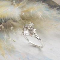 Only One!銀の滴ふるふるハーキマーダイヤモンドリング-26-/SV925
