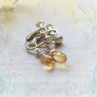 銀の滴ふるふるドロップイヤリング/シトリン