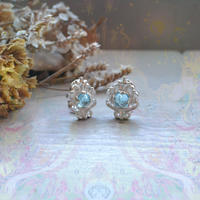 New Only One!知性と豊かさの種-Blue Topaz-Earring