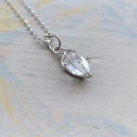 Only One!銀の滴ふるふるハーキマーダイヤモンドユニセックスネックレス-11-/ SV925