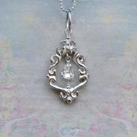 希望と才能の種-Herkimar Diamond-Pendant Top