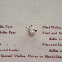 7-8mm Herkimer Diamond  K10PG 一粒Pierced