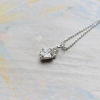 Only One!銀の滴ふるふるハーキマーダイヤモンドネックレス-7-/ SV925