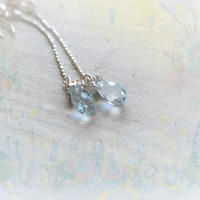 Tear Drop  Pierced -Blue Topaz 5×8mm-