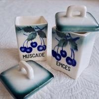 陶器のキャニスター 2個セット