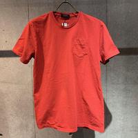 【PAZZO】製品染め クルーネックTシャツ レッド