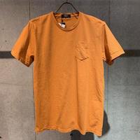 【PAZZO】製品染め クルーネックTシャツ オレンジ