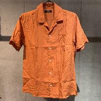 【PAZZO】フレンチリネンワッシャーシャツ オレンジ