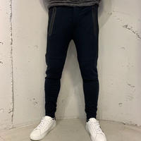 【Custom Culture】24GGストレッチ裏毛パンツ ネイビー×ブラック