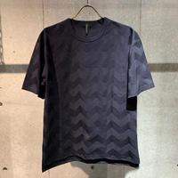 【Custom Culture】リンクスBIGヘリンボーン Tシャツ ネイビー
