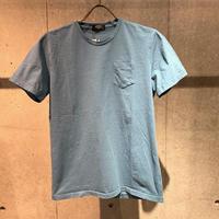 【PAZZO】製品染め クルーネックTシャツ ブルー