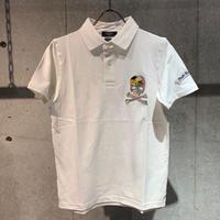 【PAZZO】スカル刺繍ポロシャツ ホワイト