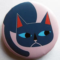 キャットブルー缶バッチ(ピットアニマル)