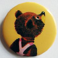 注目クマ缶バッチ(カラフルアニマル)