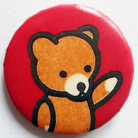 クマ缶バッチ(カラフルアニマル)