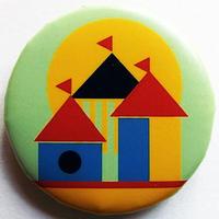 お城と太陽缶バッチ(ピットアニマル)