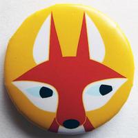 フォックスオレンジ缶バッチ(ピットアニマル)