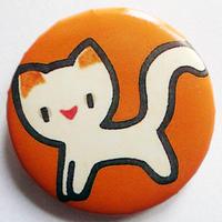ネコ缶バッチ(カラフルアニマル)