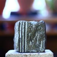 N/OH     石コロ鉢  (ブルーグレー釉)  XS   no.100427