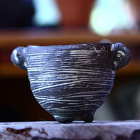 joint pot   安西桂   ×   安西岳郎   親子鉢〝土の子″  象嵌  M ミミツキ  no.82333
