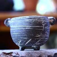 joint pot   安西桂   ×   安西岳郎   親子鉢〝土の子″  象嵌  M ミミツキ  no.82330
