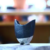 joint pot   安西桂   ×   安西岳郎   親子鉢〝土の子″ S   no.1018-23