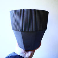 N/OH     グデア   プリミティブ   盆栽鉢〝黒〟L no.120802