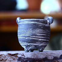 joint pot   安西桂   ×   安西岳郎   親子鉢〝土の子″  象嵌  S ミミツキ  no.82345
