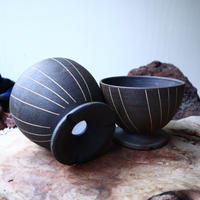 【A×T】by MENOSYAMA〝IZA〟B/W  Line  bowl  M