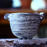 joint pot   安西桂   ×   安西岳郎   親子鉢〝土の子″  象嵌  M ミミツキ  no.82342