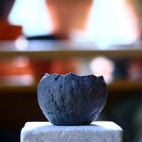 N/OH     石コロ鉢  (スモーキーグレー)  no.80933