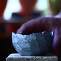 N/OH     コロ鉢  (ブルーグレー釉) XS   no.1004101