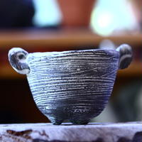 joint pot   安西桂   ×   安西岳郎   親子鉢〝土の子″  象嵌  M ミミツキ  no.82331