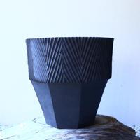 N/OH     グデア   プリミティブ   盆栽鉢〝黒〟L no.120801