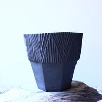 N/OH     グデア   プリミティブ   盆栽鉢〝黒〟M no.120808