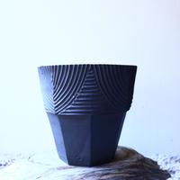 N/OH     グデア   プリミティブ   盆栽鉢〝黒〟M no.120807