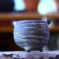 joint pot   安西桂   ×   安西岳郎   親子鉢〝土の子″  象嵌  M ミミツキ  no.82328